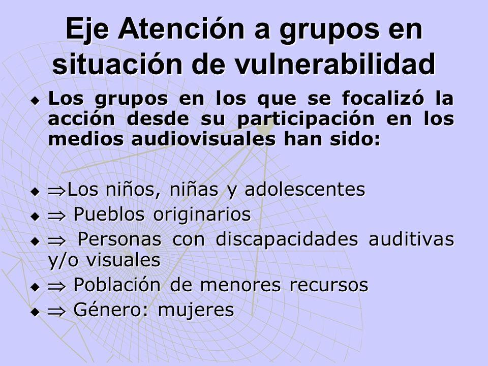 Eje Atención a grupos en situación de vulnerabilidad