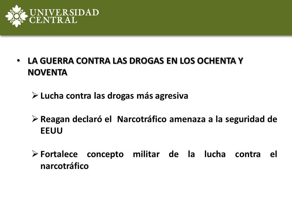 LA GUERRA CONTRA LAS DROGAS EN LOS OCHENTA Y NOVENTA