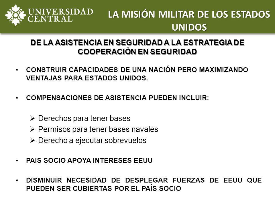 LA MISIÓN MILITAR DE LOS ESTADOS UNIDOS