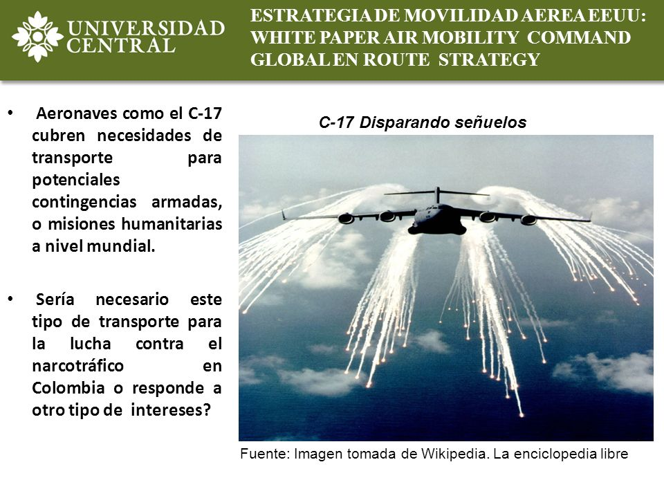 ESTRATEGIA DE MOVILIDAD AEREA EEUU: WHITE PAPER AIR MOBILITY COMMAND GLOBAL EN ROUTE STRATEGY