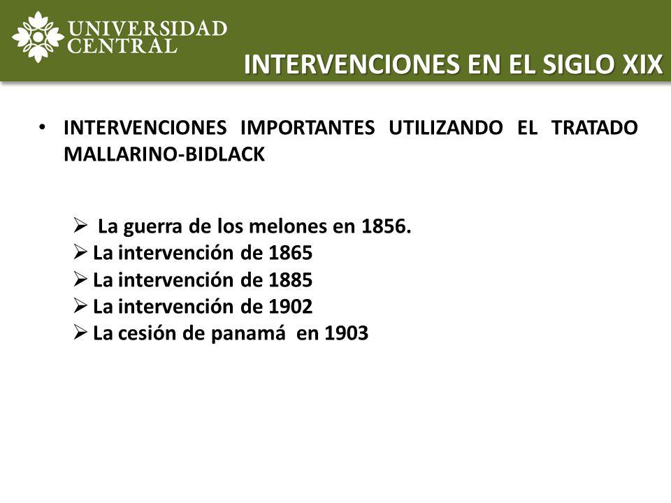 INTERVENCIONES EN EL SIGLO XIX
