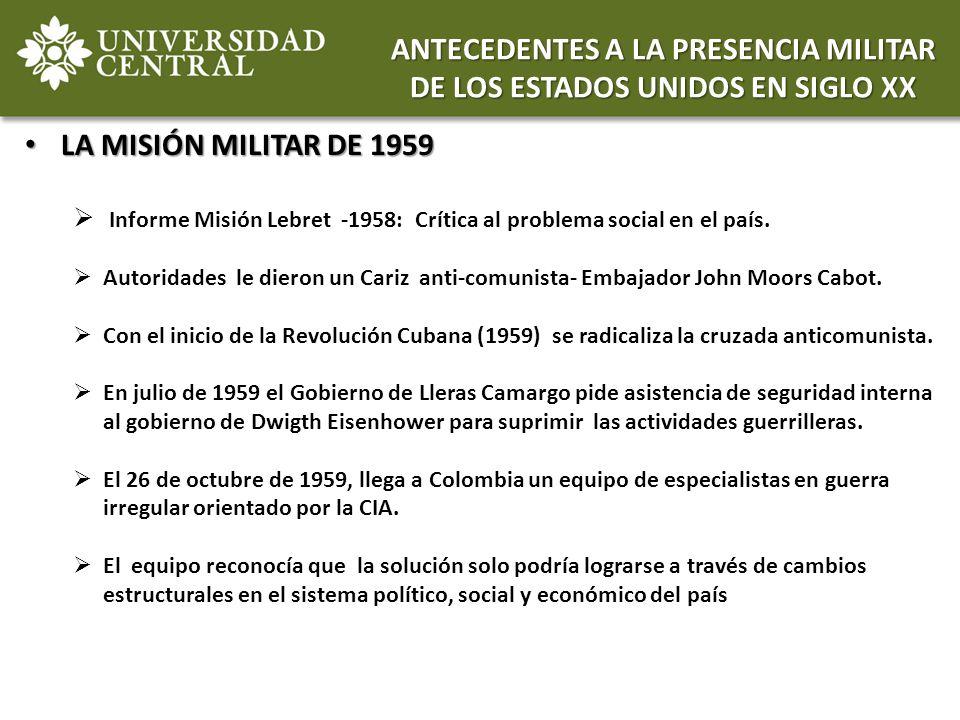 ANTECEDENTES A LA PRESENCIA MILITAR DE LOS ESTADOS UNIDOS EN SIGLO XX