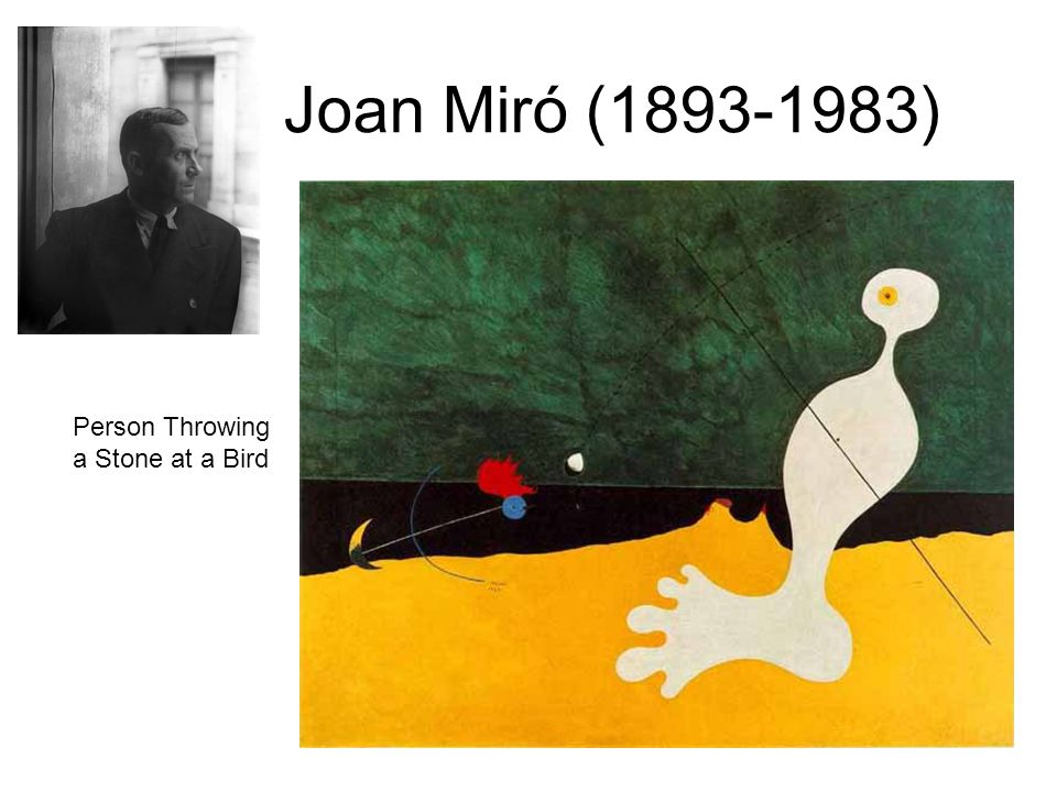 Joan Miró ( ) Person Throwing a Stone at a Bird