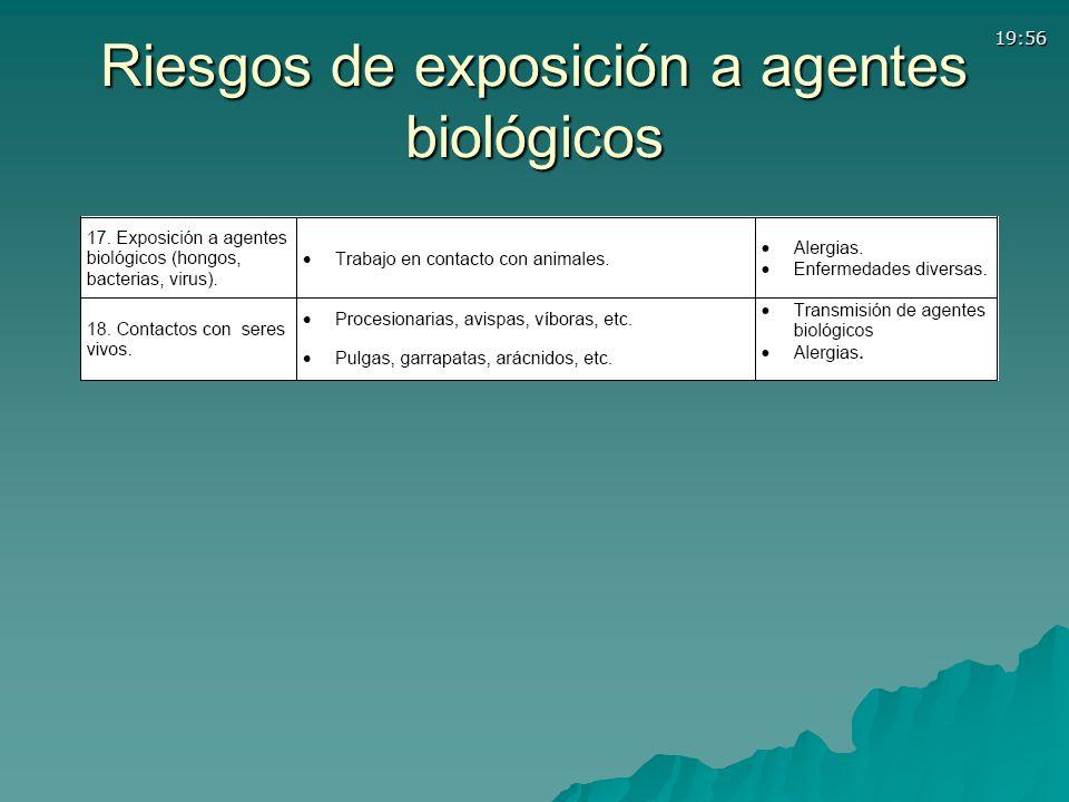 Riesgos de exposición a agentes biológicos