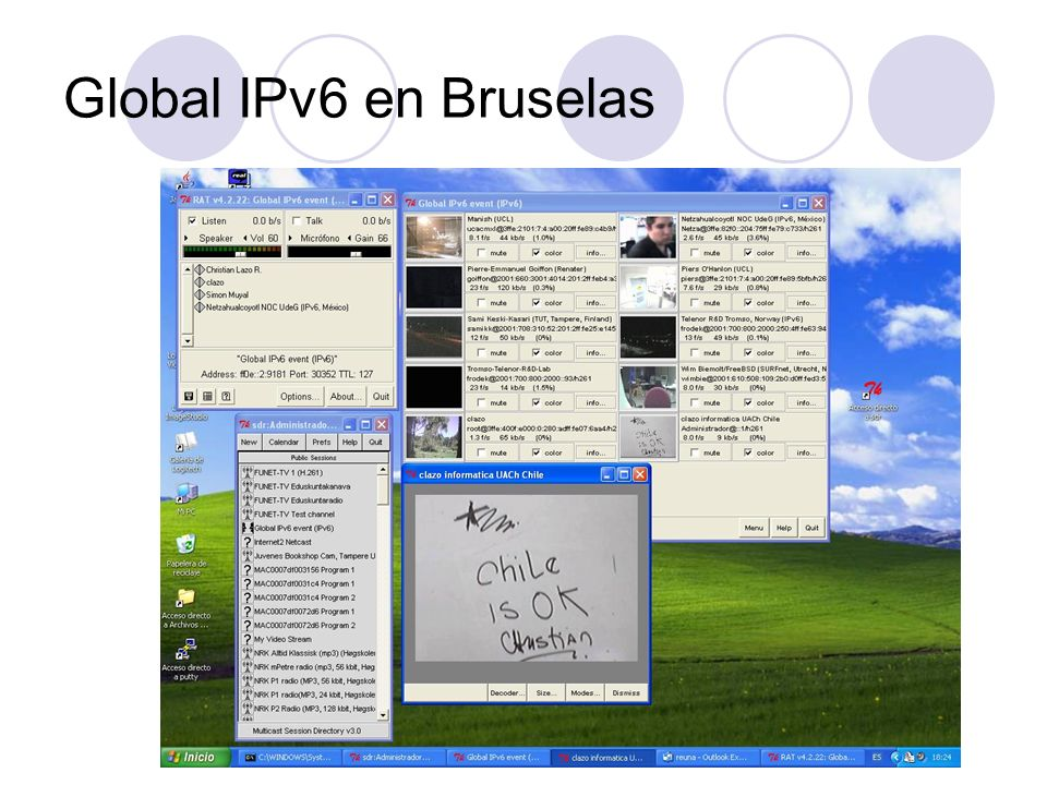 Global IPv6 en Bruselas