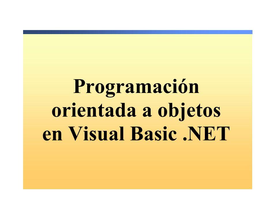 Programación orientada a objetos en Visual Basic .NET