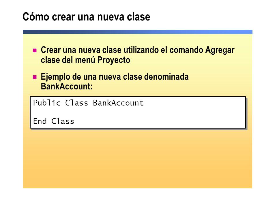 Cómo crear una nueva clase
