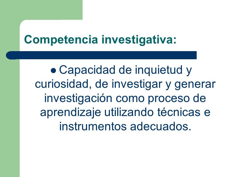 Competencia investigativa:
