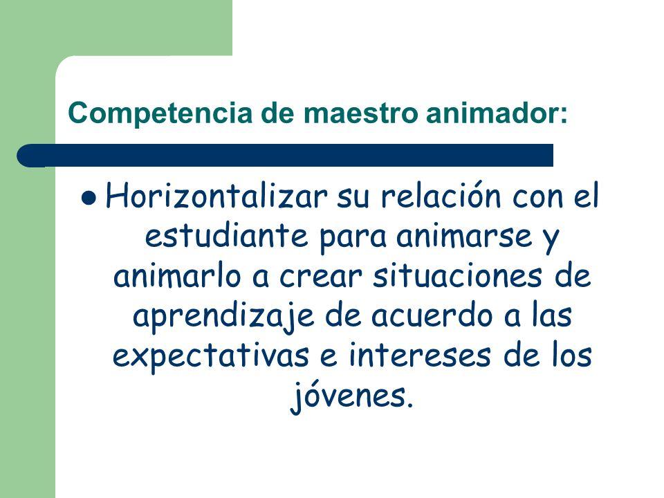 Competencia de maestro animador: