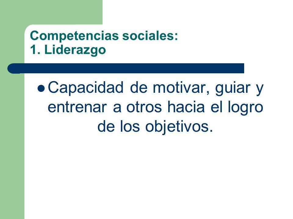 Competencias sociales: 1. Liderazgo