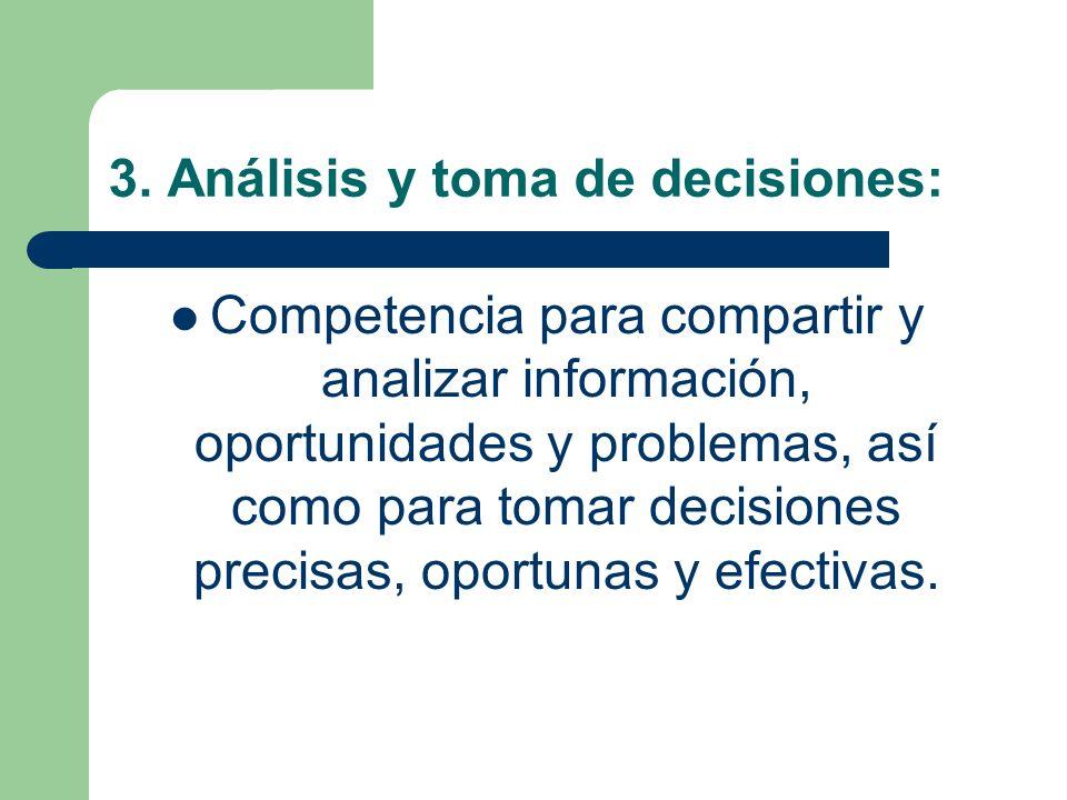 3. Análisis y toma de decisiones: