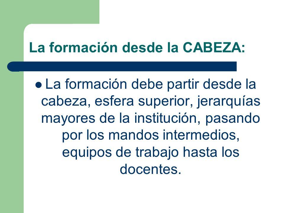 La formación desde la CABEZA: