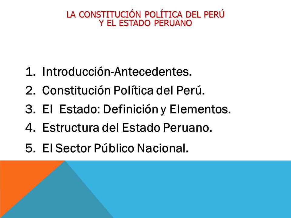 La Constitución Política Del Perú Y El Estado Peruano