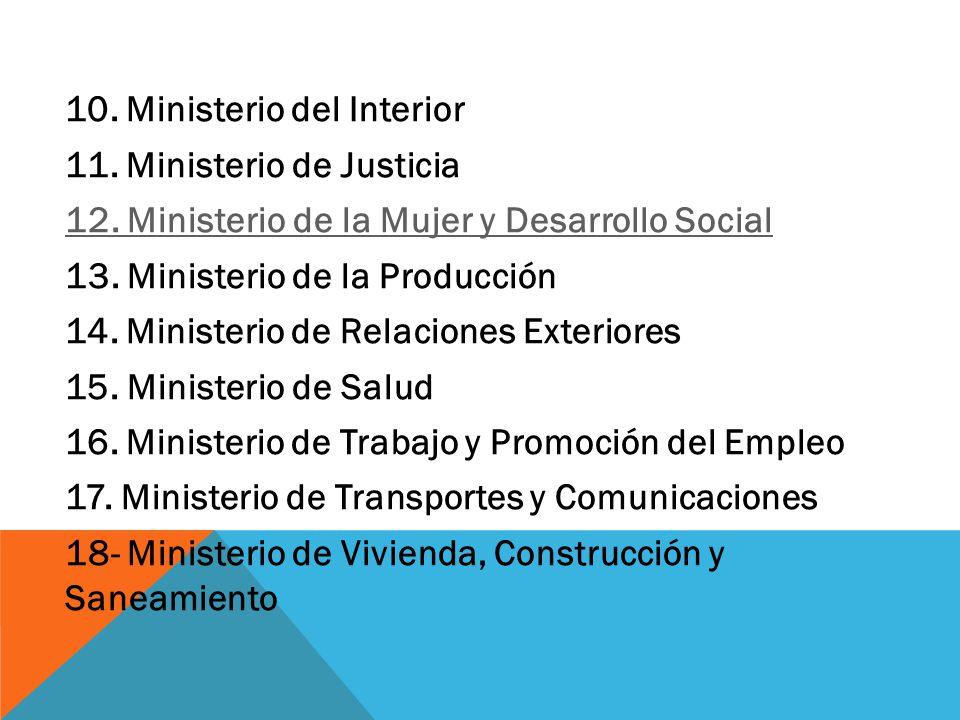 La constituci n pol tica del per y el estado peruano for Competencias del ministerio del interior