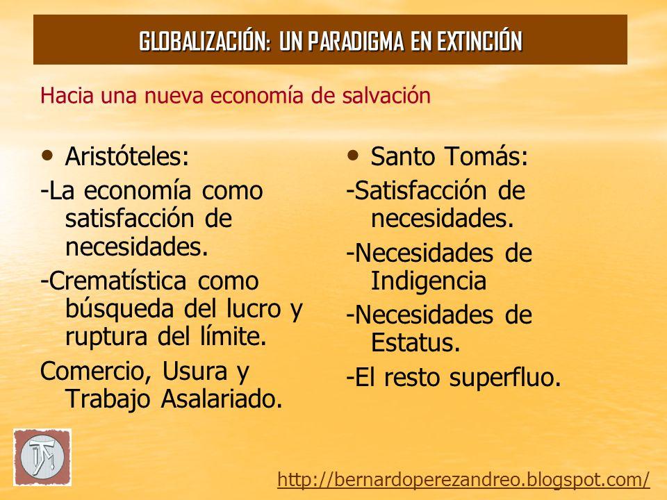 Hacia una nueva economía de salvación