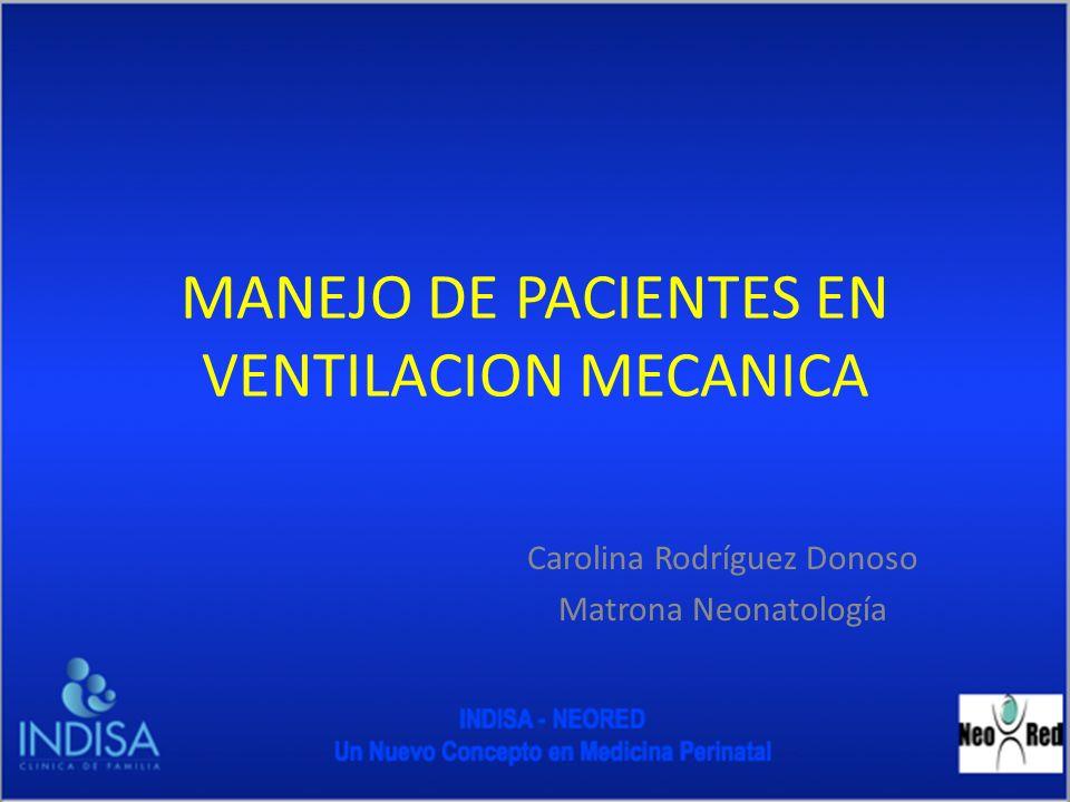 MANEJO DE PACIENTES EN VENTILACION MECANICA