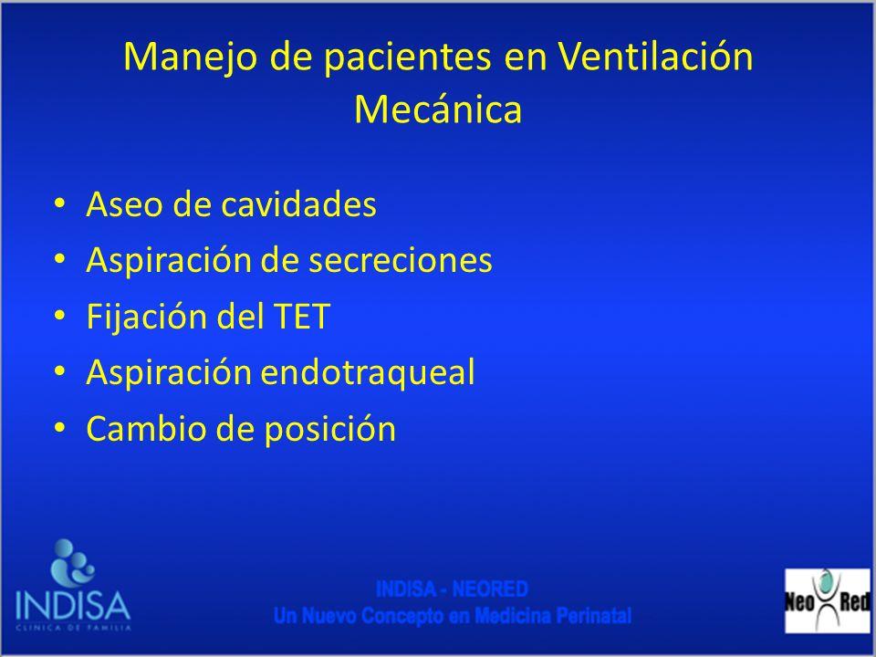Manejo de pacientes en Ventilación Mecánica