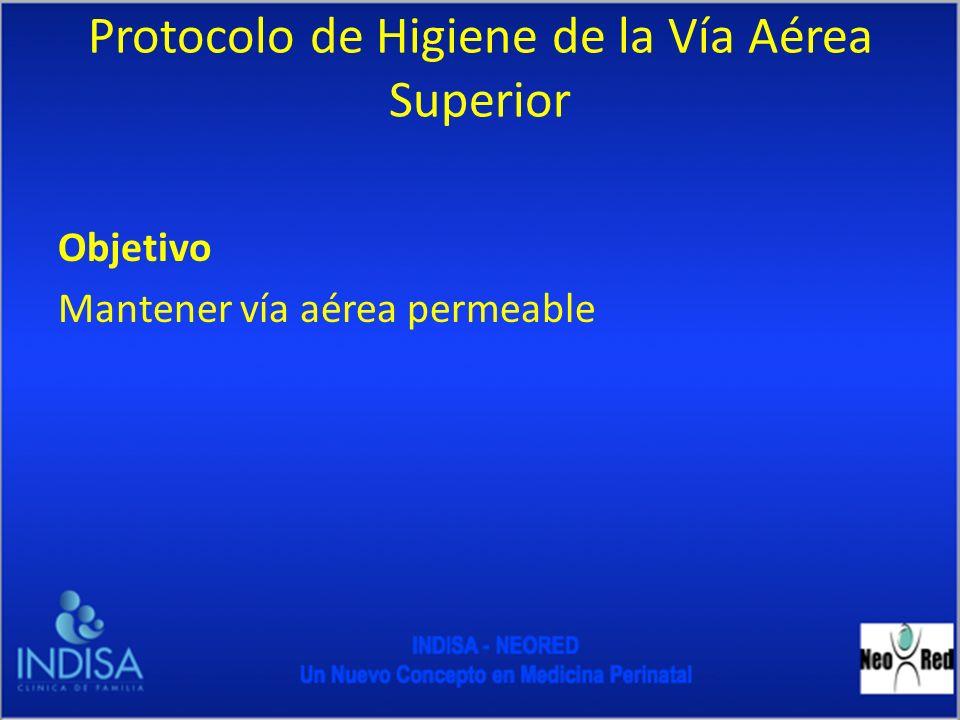 Protocolo de Higiene de la Vía Aérea Superior