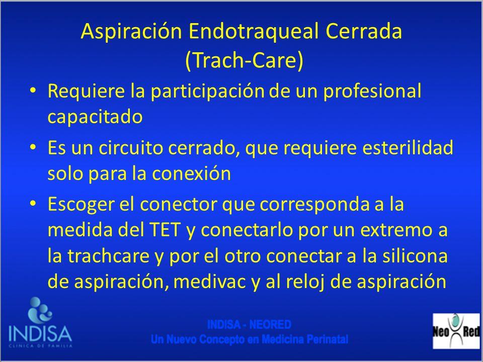 Aspiración Endotraqueal Cerrada (Trach-Care)