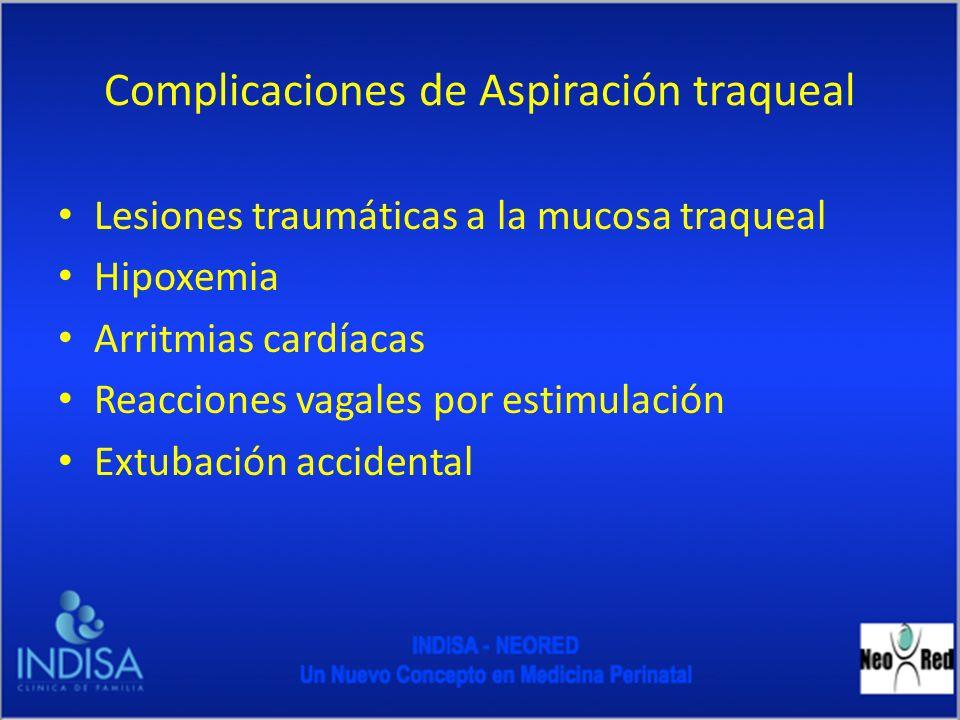 Complicaciones de Aspiración traqueal