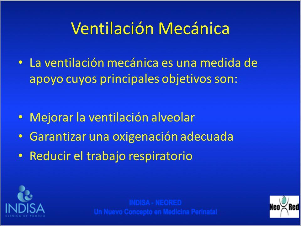 Ventilación Mecánica La ventilación mecánica es una medida de apoyo cuyos principales objetivos son: