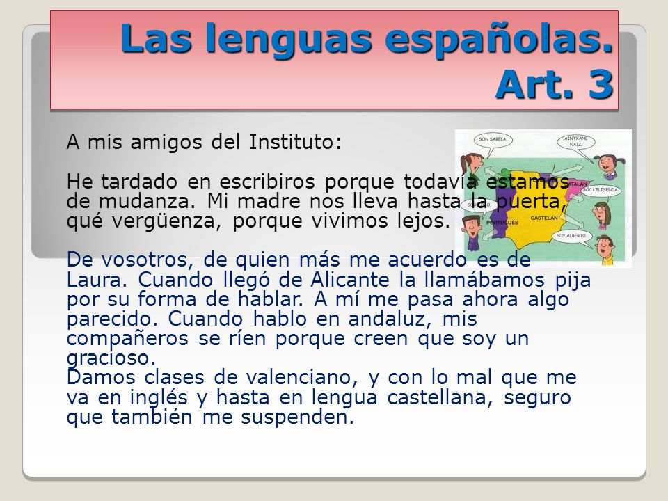 Las lenguas españolas. Art. 3