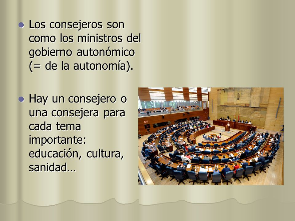 Organizaci n pol tica de espa a ppt video online descargar for Ministros del gobierno