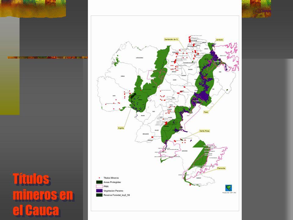 Títulos mineros en el Cauca