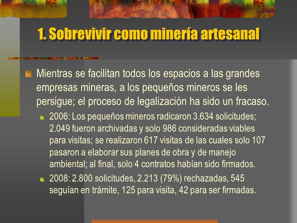 1. Sobrevivir como minería artesanal