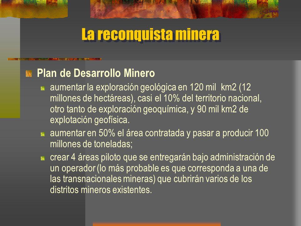 La reconquista minera Plan de Desarrollo Minero
