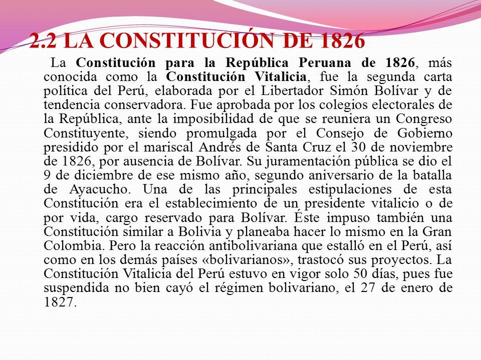 2.2 LA CONSTITUCIÓN DE 1826