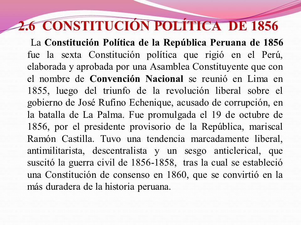 2.6 CONSTITUCIÓN POLÍTICA DE 1856