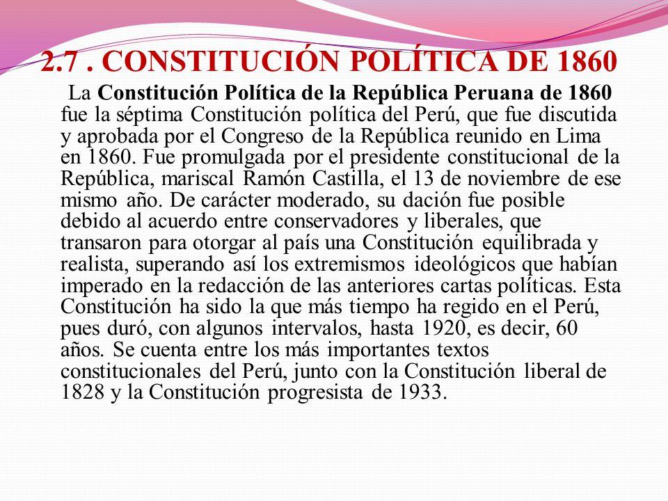 2.7 . CONSTITUCIÓN POLÍTICA DE 1860
