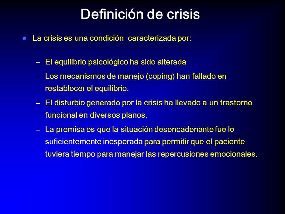 Definición de crisis La crisis es una condición caracterizada por: