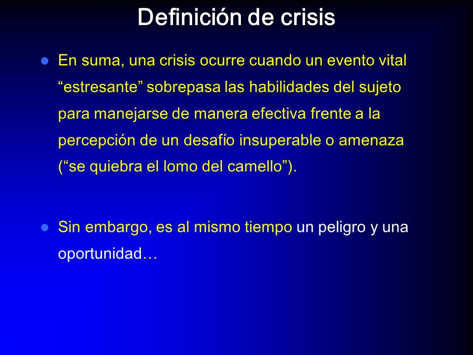 Definición de crisis