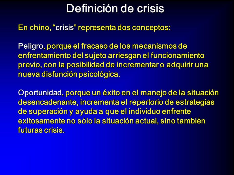 Definición de crisis En chino, crisis representa dos conceptos: