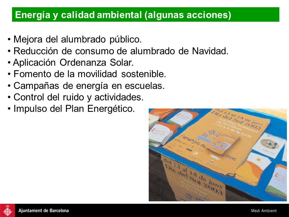 Energía y calidad ambiental (algunas acciones)