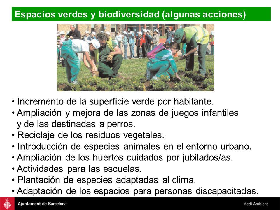 Espacios verdes y biodiversidad (algunas acciones)