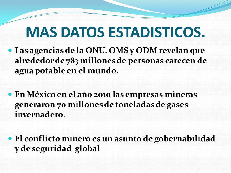 MAS DATOS ESTADISTICOS.