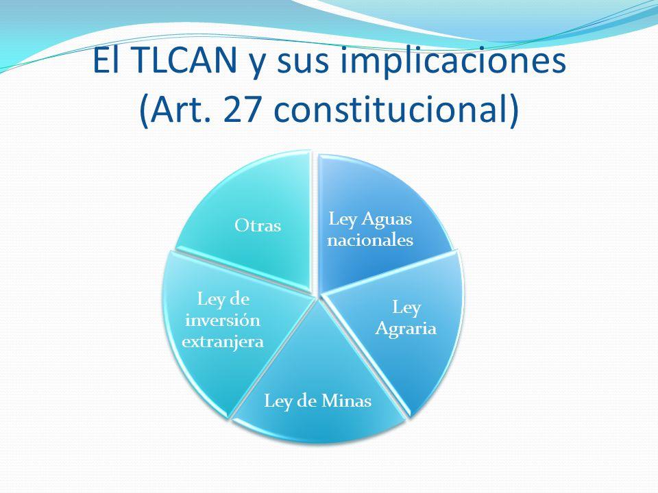 El TLCAN y sus implicaciones (Art. 27 constitucional)