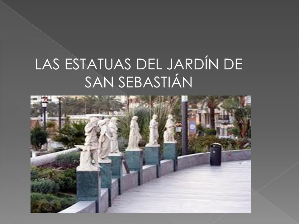 Las estatuas del jard n de san sebasti n ppt descargar - Estatuas de jardin ...