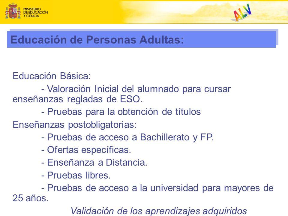 ALV Educación de Personas Adultas: Educación Básica: