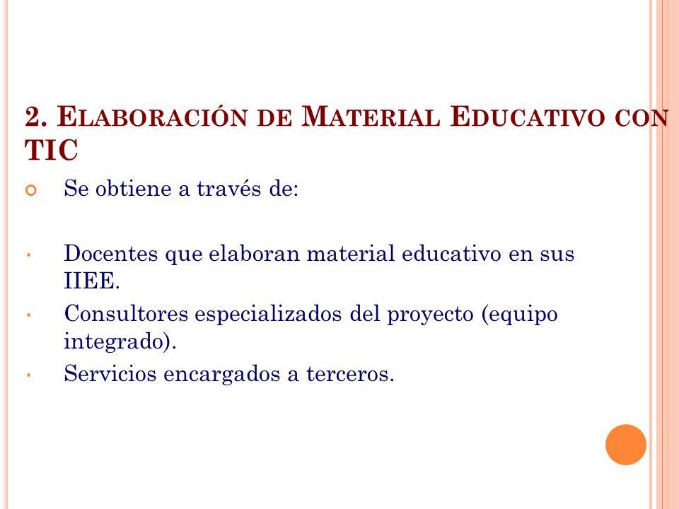 2. Elaboración de Material Educativo con TIC