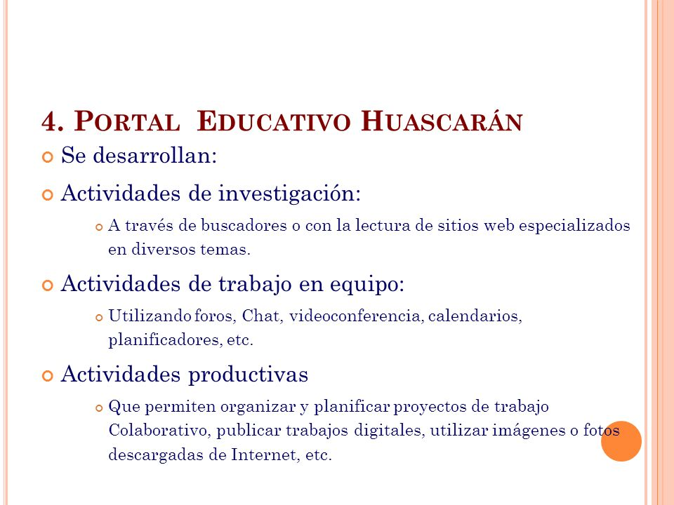 4. Portal Educativo Huascarán