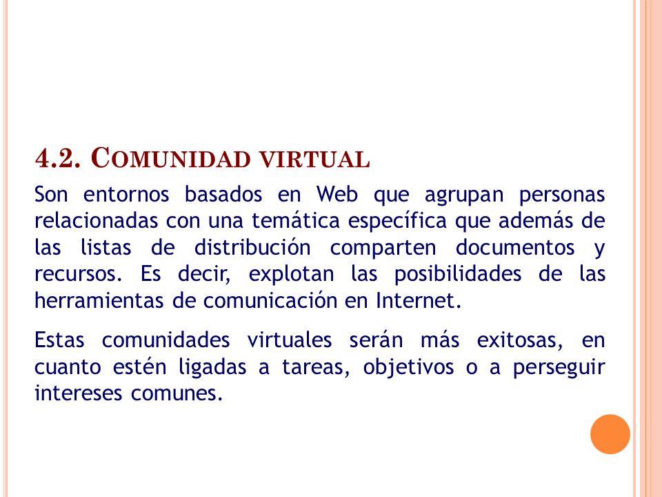 4.2. Comunidad virtual
