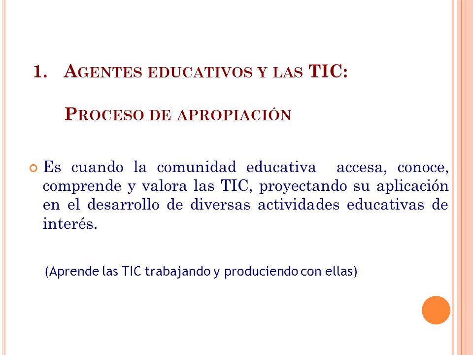 Agentes educativos y las TIC: Proceso de apropiación