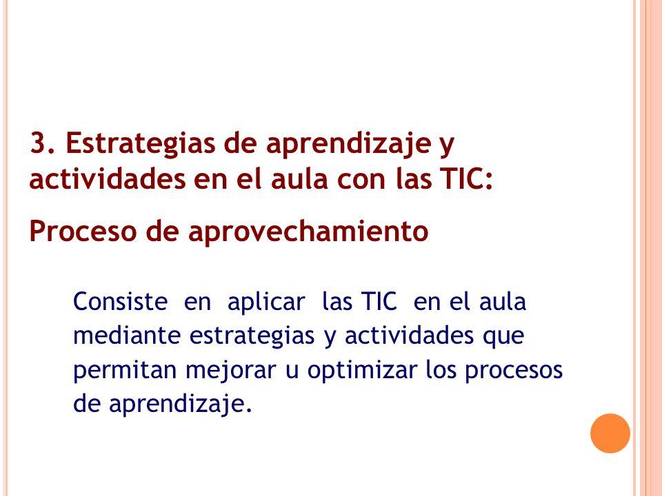 3. Estrategias de aprendizaje y actividades en el aula con las TIC:
