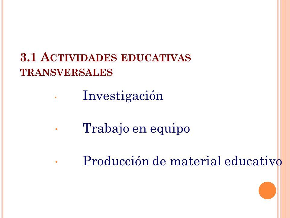 3.1 Actividades educativas transversales