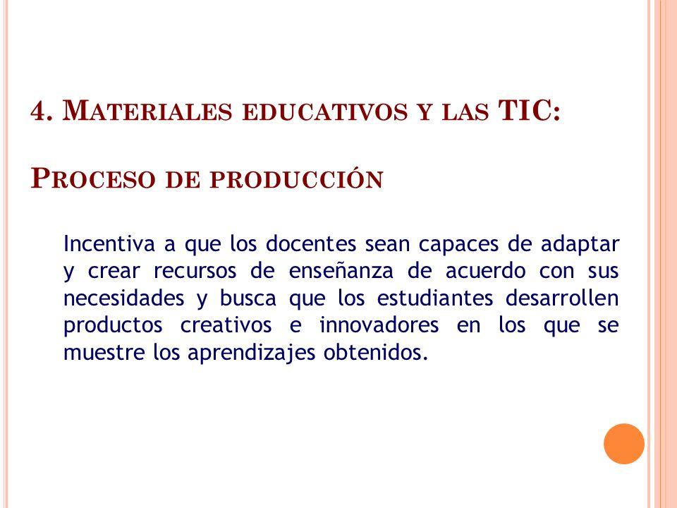 4. Materiales educativos y las TIC: Proceso de producción