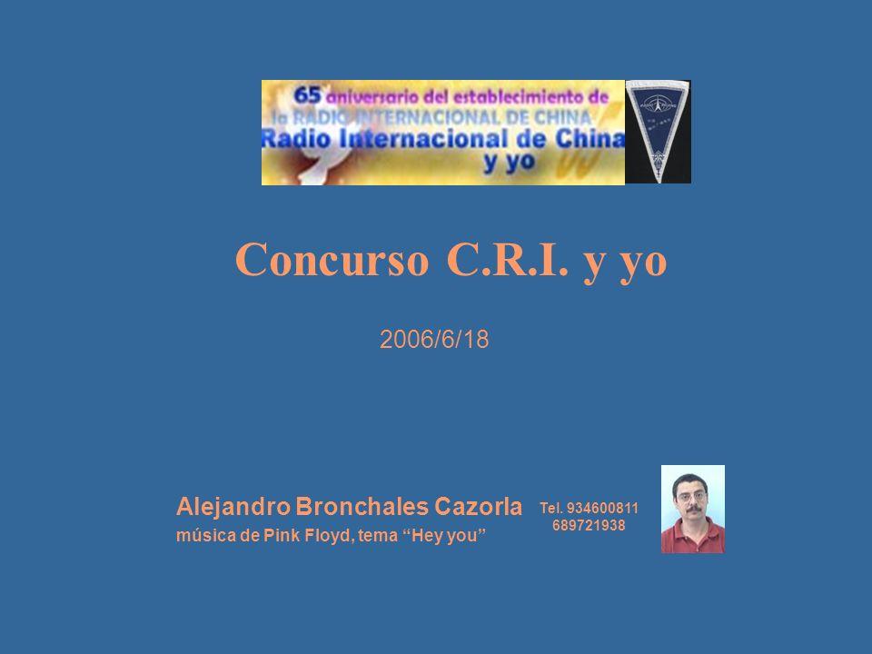 Concurso C.R.I. y yo 2006/6/18 Alejandro Bronchales Cazorla